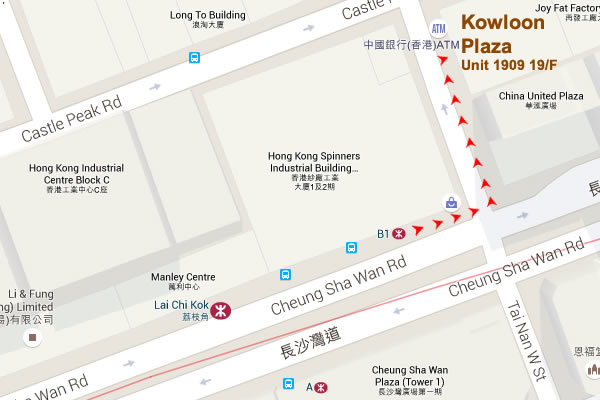 Map of Kowloon Plaza